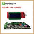 MKS GEN V1.4 материнская плата + LCD2004 панель 2004 ЖК-дисплей DIY beginer kit ramps 1 4 Плата mega2560 материнская плата reprap Kossel комплекты