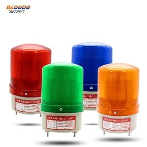 Lámpara de alarma estroboscópico LED giratoria, luz de sirena, amarilla, azul, roja, verde, luz de advertencia LED con puerta corredera de voz