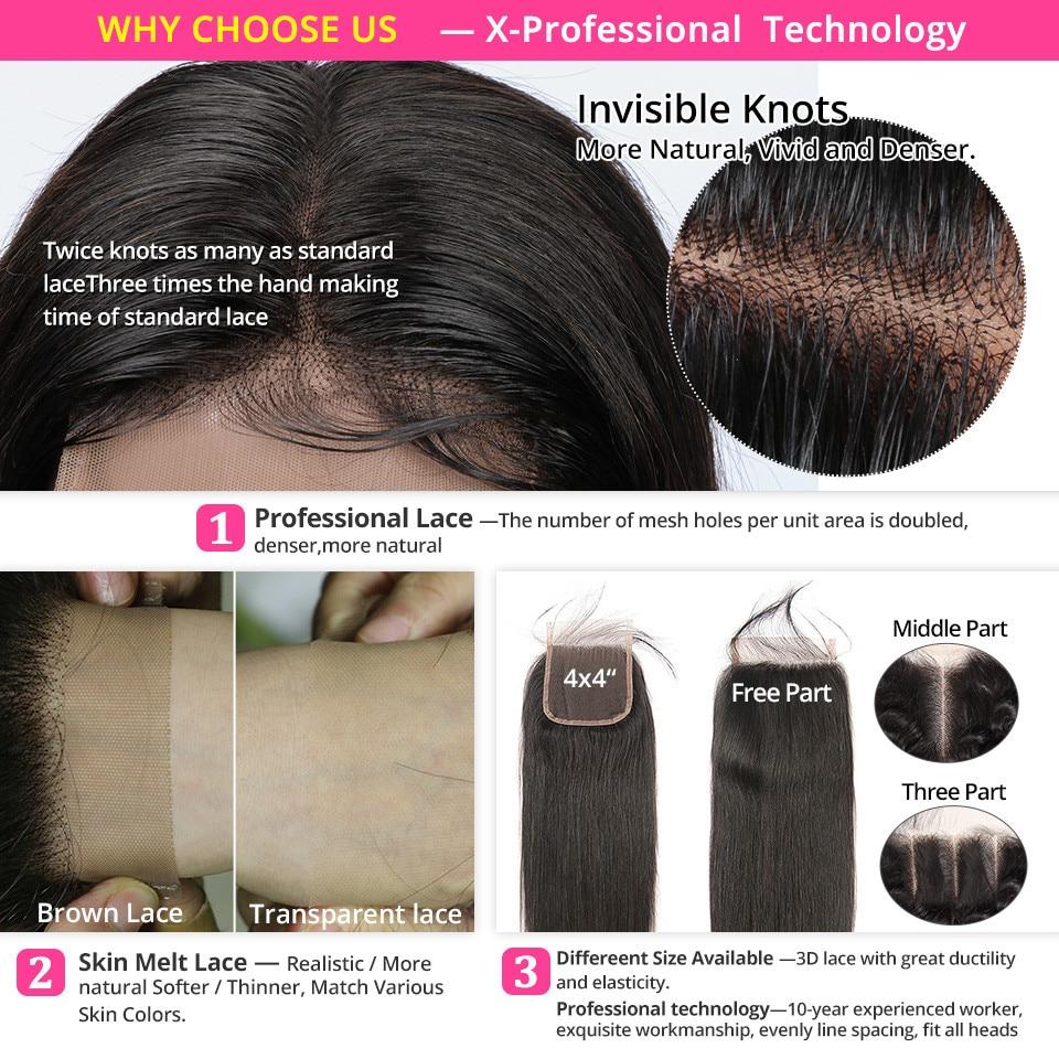 Hea1cf47cdbed4996b56814994c5b3267z AliPearl Hair 100% Human Hair Bundles With Closure Brazilian Straight Hair Weave 3 Bundles Natural Black Remy Hair Extensions