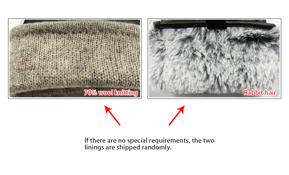 Hea1cfbccf719450986e812f70fabf3952 - New Women's Gloves Genuine Leather Winter Warm Fluff Woman Soft Female Rabbit Fur Lining Riveted Clasp High-quality Mittens