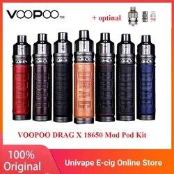 Original VOOPOO DRAG X Mod Pod Kit with 4.5ml Pod PnP-VM6 0.15ohm / PnP-VM1 0.3ohm Coil 80W Max Output E-cig Vape Kit vs Vinci X