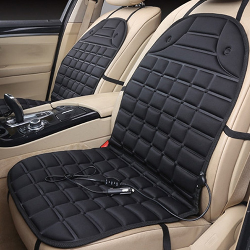 Car Seat Heated Cover 36 45W 12V Front Seat Heater Auto Winter Warmer Cushion Portable Automobile Accessories Hot Car styling|Automobiles Seat Covers| |  - title=