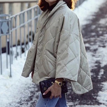 Women coat stand collar loose casual wild lady coat autumn winter