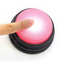 Для записи беседы кнопка с светодиодный Функция родитель-ребенок интерактивные игрушки фонограф игра ответ зуммеры обучения с подарки