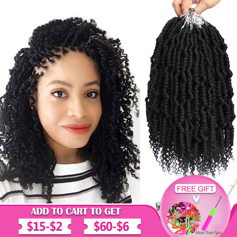 Bomb Fluffy Twist Crochet Hair Spring Twist Braiding Hair Passion Twist Hair Pre Looped Crochet Hair Synthetic Hair Extension