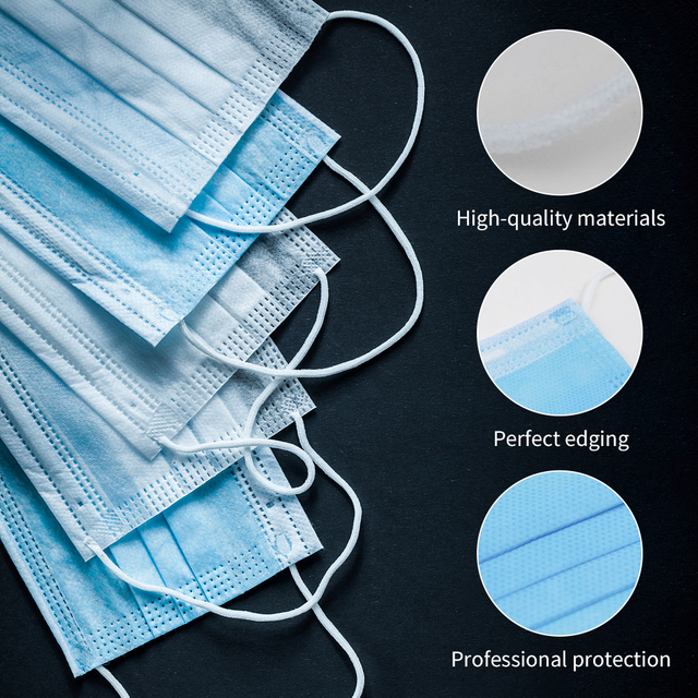 Fast Shipping Disposable Mouth Face Mask Anti-Dust 3 Layer Mouth Masks Anti Flu PM2.5 Breathable Masks Face Care Elastic Earloop 1