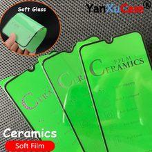 10 unids/lote 3D de cerámica suave película para Samsung A10 A20 S A30 40 50 A60 A70 A80 A90 La pegamento suave Protector de pantalla en A51 A71 81 A91