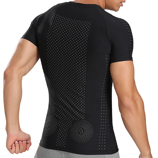Men's Sweat Shirt Slimming Belt Corset Vest Tummy Shaper Corrective Underwear Waist Trainer Binders Body Shapers Shapewear 1