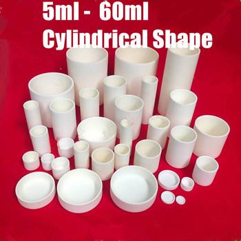 5ml 6ml 15 25 40 45 60 30 ml cylindryczny 99 czystego aluminium tygiel korundowy Al2O3 tygiel ceramiczny rury tygiel spiekany tanie i dobre opinie CN (pochodzenie) NONE Standardowy aluminum corundum crucible 99 5 aluminum melting