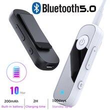 JINSERTA Bluetooth 5.0 מקלט 3.5mm AUX מתאם לרכב אוזניות רמקול מוסיקה אלחוטי Bluetooth 3.5 שקע אודיו מקלט
