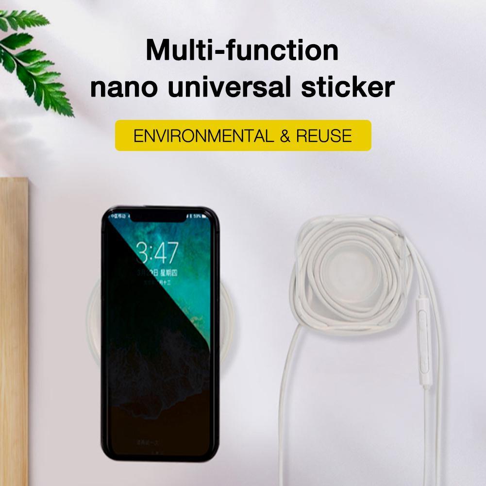 Universal  Car Phone Holder Gel Paste Magic Nano Stickerssock Socket  No Trace Magic Nano Casual Paste Rubber Pad Wall Stickers