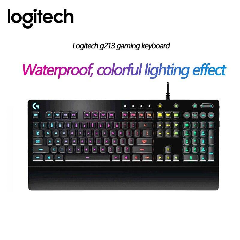 Logitech 95New G213 PRODIGY RGB Gaming Keyboard for Laptop PC Gaming Overwatch PUBG Gamer Keyboard Like Mechanical Keyboard