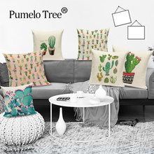 Cushion-Cover Scania Pillow-Case Decorative Throw Tropical-Plant Cama Bed Cactus Cojin