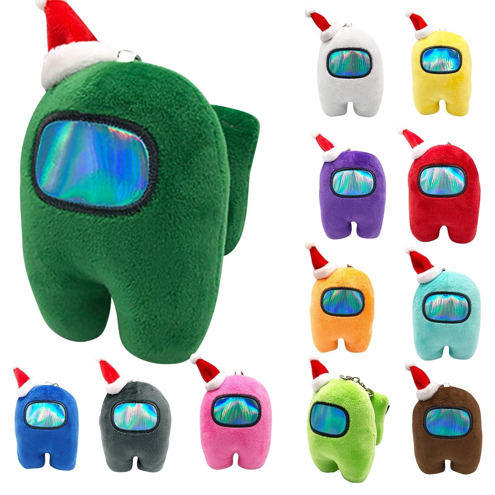 Lazer yumuşak peluş arasında şapka ile peluş oyuncaklar Kawaii dolması bebek sevimli arasında peluş olarak harika noel hediyesi oyuncaklar çocuklar için