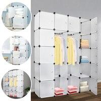 Simple Wardrobe 20 Lattice DIY Assembled Wardrobe Clothing Storage Cabinet Bookcase Clothes Organizer Home Furniture
