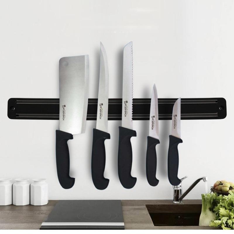 Magnetic Knife Holder Wall Mount Black Knife Rack For Plastic ...