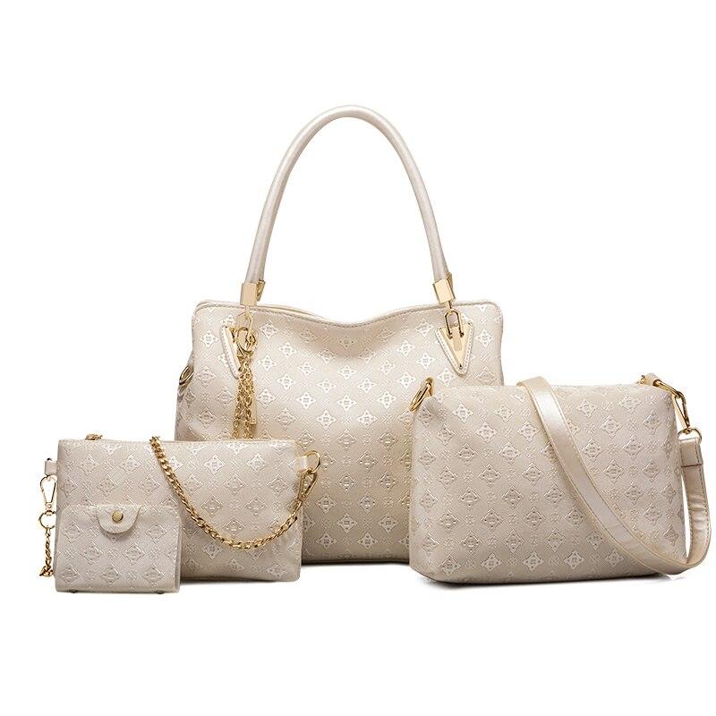 Ceossman 4pcs Women Bag Set Top-Handle Big Capacity Female Handbag Fashion Shoulder Bag Purse Ladies PU Leather Crossbody Bag