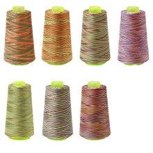 3000 ярдов Радуга Цвета «сделай сам» вышивка нить для шитья s текстильная пряжа нити для ручной работы вышивка нить для шитья аксессуары для вязания