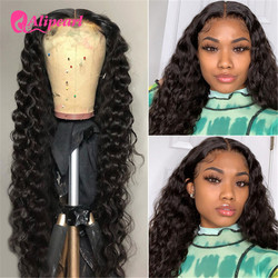 AliPearl Hair 4x4 Closure Wig Peruvian Loose Deep Lace Front Closure Human Hair Wigs For Black Women Pre Plucked 180 250 Density