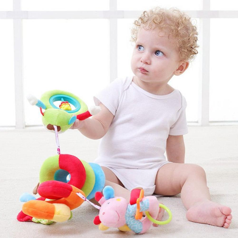 Baby Toy Newborn Puzzle Bed Plush Bed Bell Trailer Hanging Crib Decorations Educatief Speelgoed Rammelaars Voor Kinderen