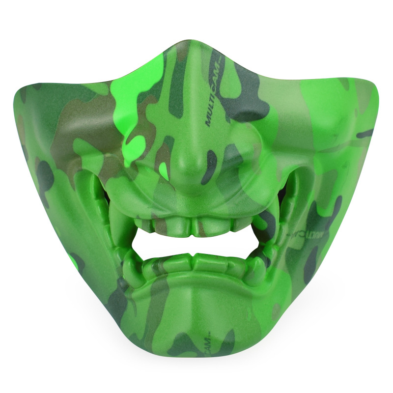 Airsoft Paintball Tactical Skull Half Face Mask Halloween CS Wargame Horrible Cosplay Outdoor Protection Military Camouflage