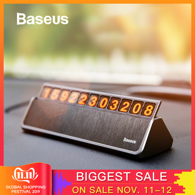 Baseus Car Styling Sticker Temporary Car Parking Phone Number Card Plate Car Park Stop Car styling Automobile Accessories-in Car Stickers from Automobiles & Motorcycles