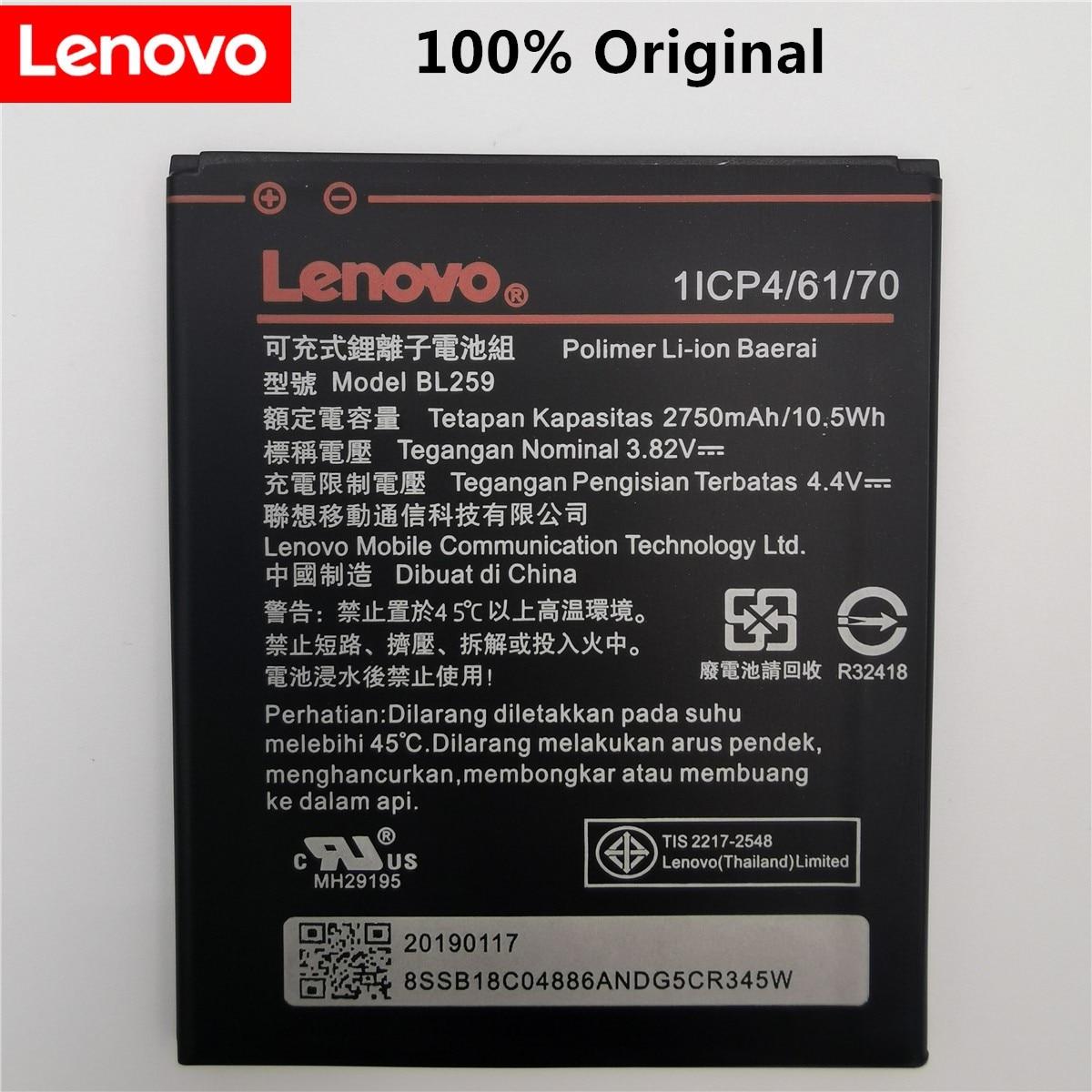 2019 100% Tested New 3.82V 2750mAh BL259 For Lenovo Vibe K5 / K5 Plus / A6020 A6020A40 A6020A46 Battery