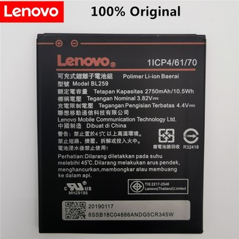 2019 100% Tested New 3.82V 2750mAh BL259 For Lenovo Vibe K5 / K5 Plus / A6020 A6020A40 A6020A46 Battery защитное стекло caseguru для lenovo vibe k5 plus