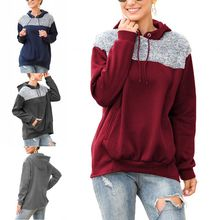 Europe And The United States Autumn Winter Plush Stitching Sweatshirt Hoodie Shirt Jacket