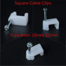 цена на 100pcs 8mm 10mm 12mm Square cable clips Hexagon wire nail for Indoor wiring fixed in cement wall, brick wall, concrete wall
