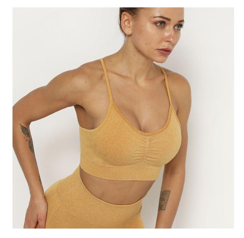 Sexy esportes ternos sem costura yoga conjunto