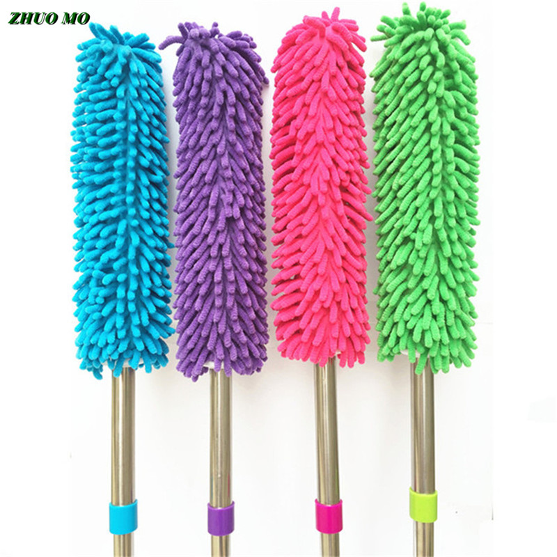 Chenille Retractable Duster microfiber Metal handle dust cleaner window cleaner for home car household items Cleaning Tool|dusters cleaning|cleaning duster|chenille duster - title=