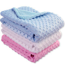 Small Blanket & Swaddling Newborn Thermal Soft Fleece Solid Bedding Set Cotton Quilt household Baby Child Adult Blanket