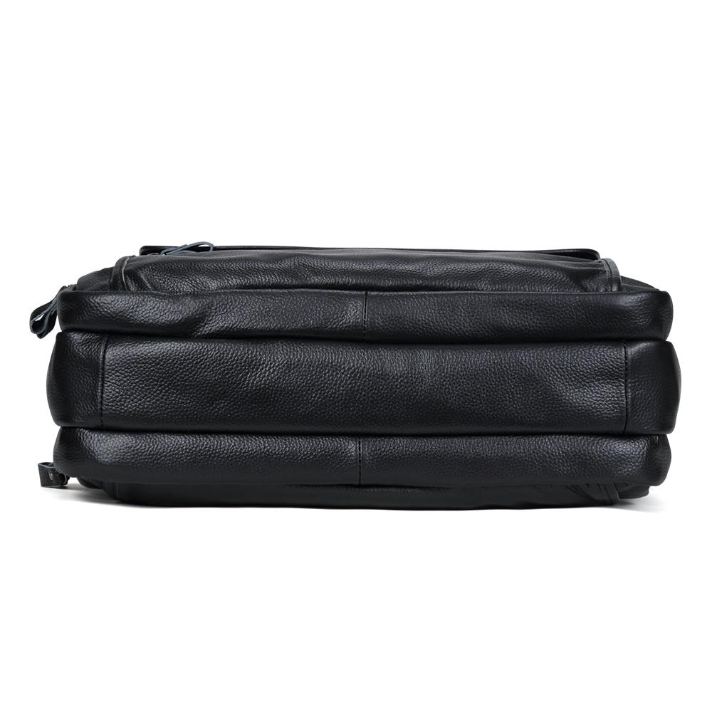Large Men Leather Handbgs Male Genuine Leather Business Travel Brifcases Bag Men's 15.6 Inch Laptop Shoulder Bag Business A4 Bag