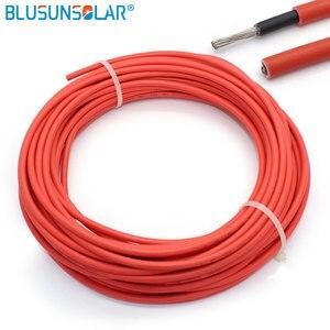 Image 5 - BULSUNSOLAR 10m/rolka przewód solarny PV drutu 1500V 4mm 2/ 6mm2(12/10AWG) czerwony i czarny XLPE EN50618 H1Z2Z2 K z certyfikatem TUV