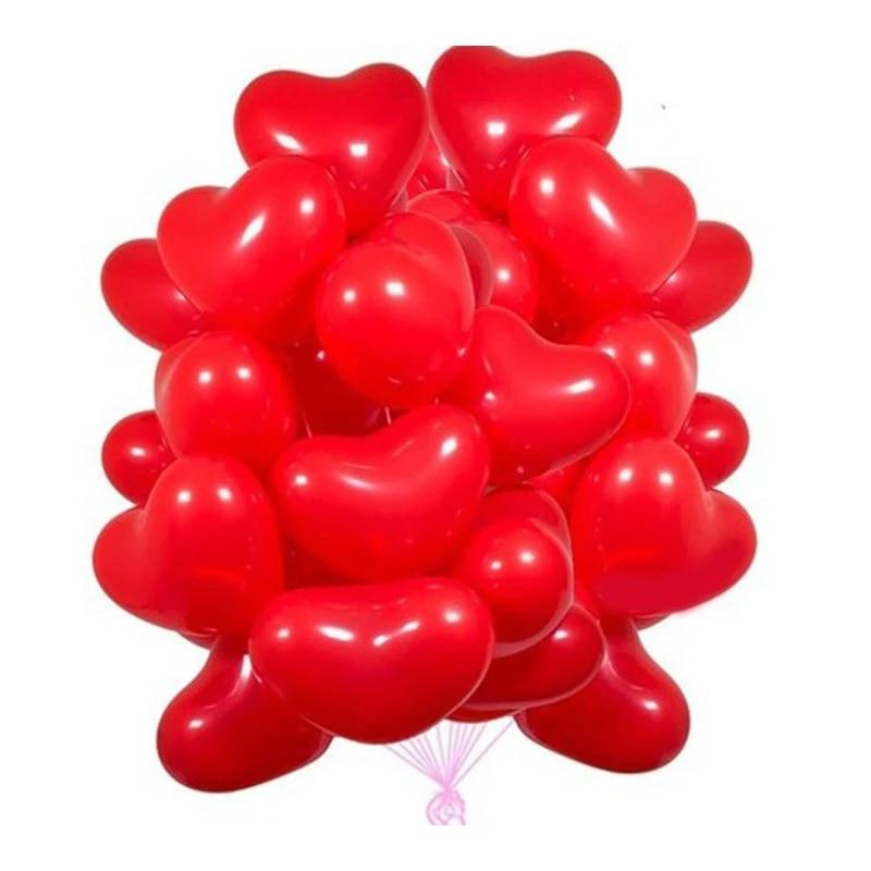 10 шт. красный розовый шар 10 дюймов любовь латексные воздушные шары «сердце» Свадебные воздушный шар с гелием на День святого Валентина, День...