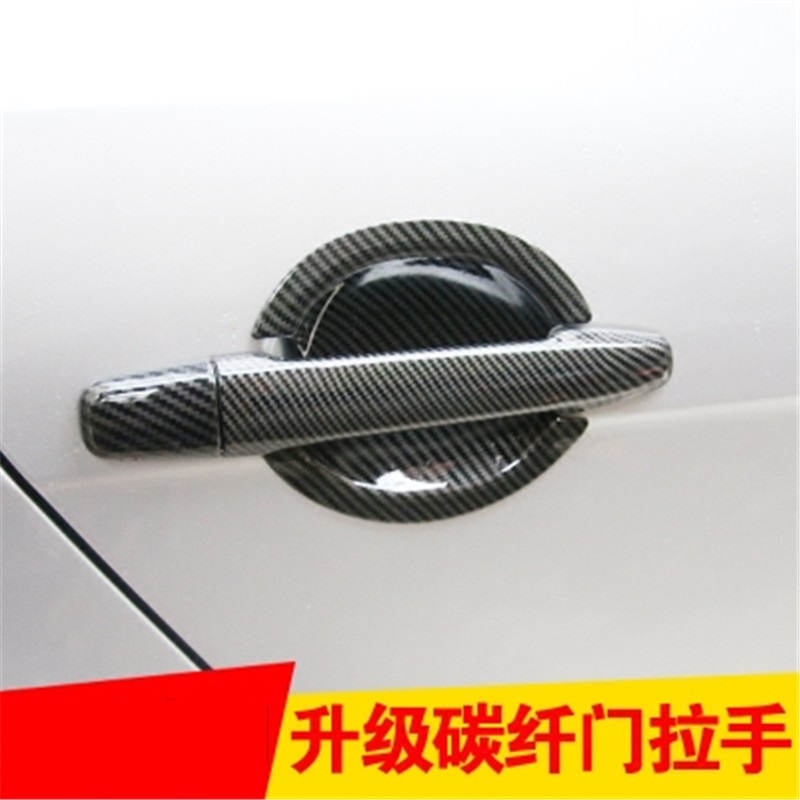 ABS <font><b>Door</b></font> <font><b>handle</b></font> Protective covering Cover Trim for <font><b>Mitsubishi</b></font> Lancer-ex Lancer/Lancer X/Lancer Evo 2008-2019 Car styling image