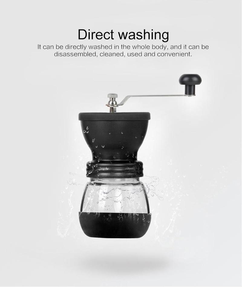 1 adet Taşınabilir Fasulye Değirmeni Mutfak Aletleri Yeniden Kullanılabilir Yaratıcı Manuel Kahve Çekirdekleri Değirmeni Depolama Kavanoz Ev Aksesuarları