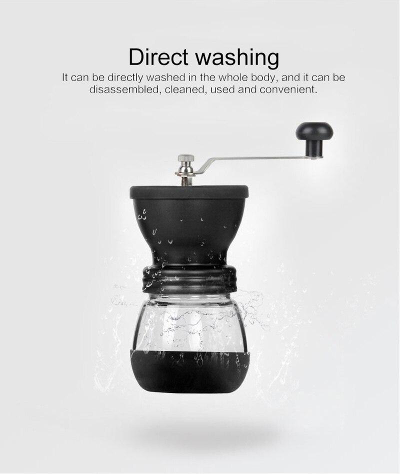 1Pc Portable haricots broyeur cuisine Gadgets réutilisable créatif manuel café grains broyeur stockage pot accessoires pour la maison