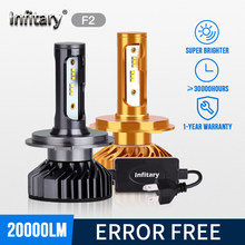 Infitary zes canbus mini nenhum erro h4 conduziu luzes de nevoeiro h1 h11 9006 h7 automóvel correndo para a lâmpada do farol do carro 90w farol