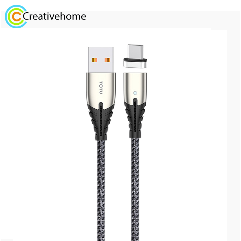 TOTUDESIGN BMA 027 Thunder Series Micro USB Automatic Adsorption Magnectic Charging Cable  Length: 1.2m|Mobile Phone Cables| |  - title=