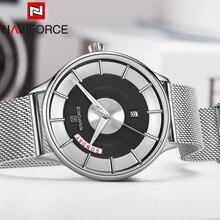 NAVIFORCE montre bracelet étanche pour hommes, montre de Sport militaire, avec calendrier à Quartz, pour hommes, nouvelle collection 3007