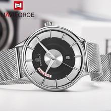 Часы наручные NAVIFORCE Мужские кварцевые, спортивные водонепроницаемые армейские, деловые, с календарем, в стиле милитари, 3007