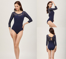 Ballet Leotards Adult 2020 New High Quality Comfortable Practice Dance Costume Gymnastics Adult Navy Blue Leotard Ballet