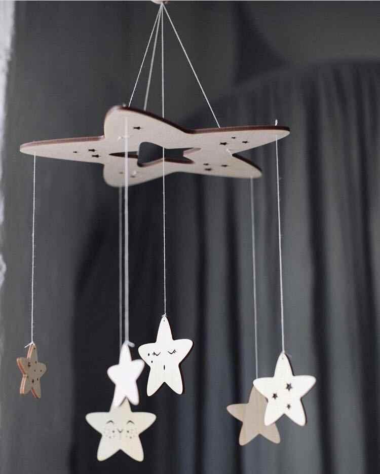 60 см * 23 см DIY Ins скандинавский ветер деревянные звезды колокольные Декор баннер украшение детской комнаты бамперы для постельных принадлежностей Детские шарики для вечеринки дети