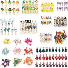 10 stück Mini Cartoon Herz Holz Kleidung Foto Papier Peg Pin Clothespin Handwerk Postkarte Clips Startseite Hochzeit DIY Dekoration