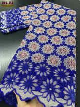 NIAI – tissu africain en dentelle suisse 2020 coton, Voile de haute qualité, pour la couture de robes de soirée, 100%