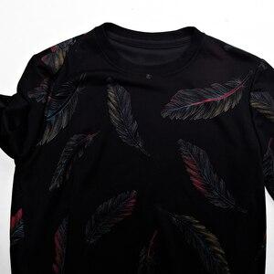 Image 4 - Jersey de diseñador con plumas para hombre, Jersey delgado de punto, ropa de punto ajustada, ropa de punto 2020