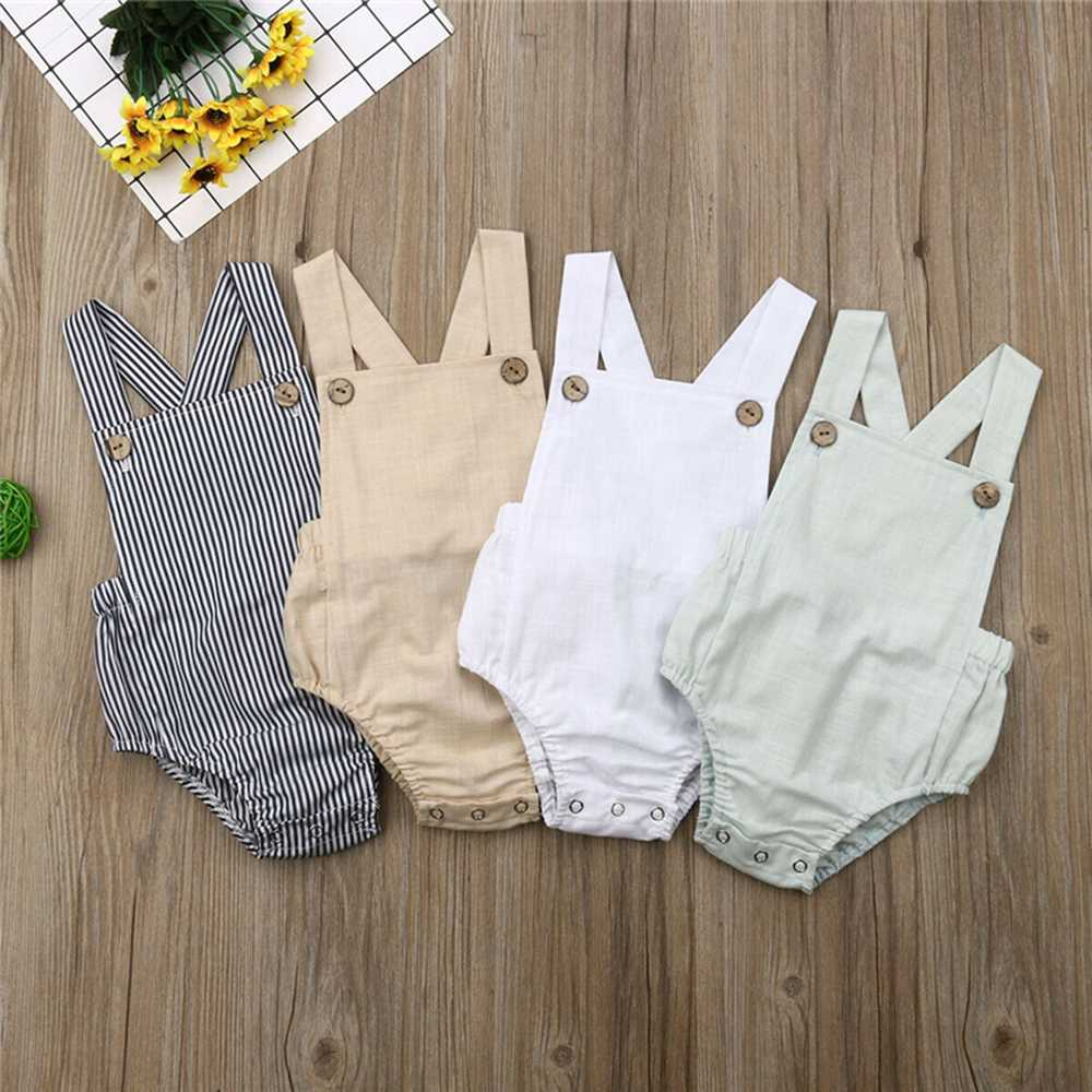 Solid Baby Girl Bodysuit Summer Fashion Casual Slim Newborn Baby Boy Cotton Bodysuit Jumpsuit Outfit Clothing Set 0-3 Years