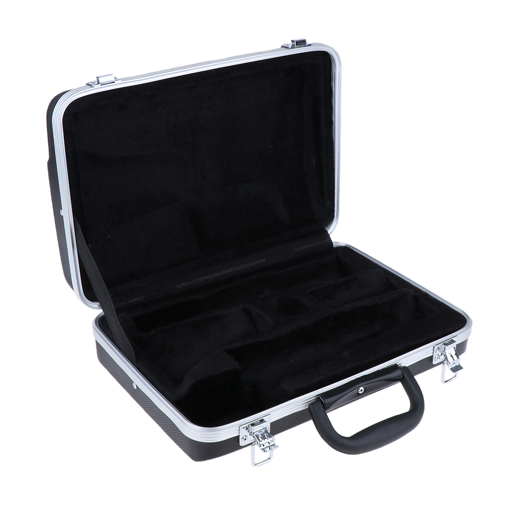 Square Clarinet Hard Protection Case Travel Gig Bag Professional Parts Black